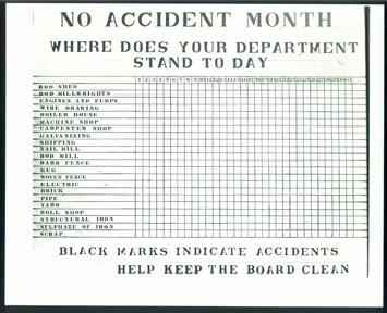 """No Accident Month"" form from ..."