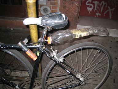Rain guard for bike made of plastic bottle