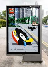 Lego ad on bus shelter