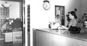 1950s reception desk